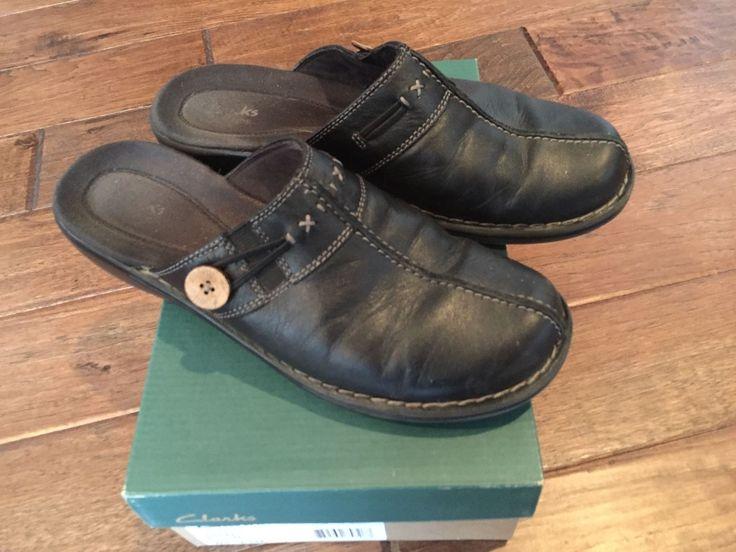 Clarks Venice Sea Black sz 8 1/2M ladies shoes 35592