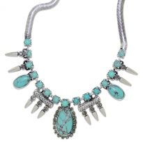 Spiked Turquoise Necklace - A & C