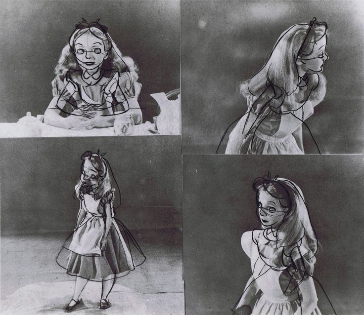"Kathryn Beaumont, the actress for Alice in Disney's ""Alice in Wonderland"", doing live-action reference for Disney animators. - Album on Imgur"