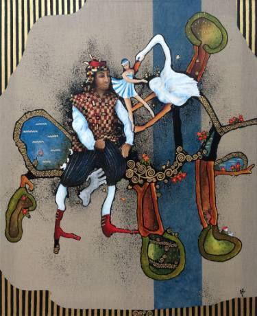 "Saatchi Art Artist Jette Reinert; Painting, ""The wanderer are dreaming about"" #art"