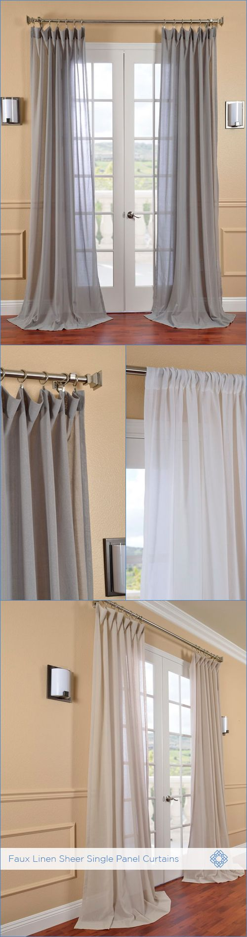 save up to 60 with these faux linen sheer curtains our faux linen sheer curtains u0026 drapeshome goodswindow