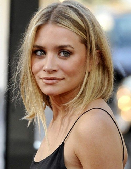 Ashley Olsen Medium Frisuren für dünnes Haar 2014