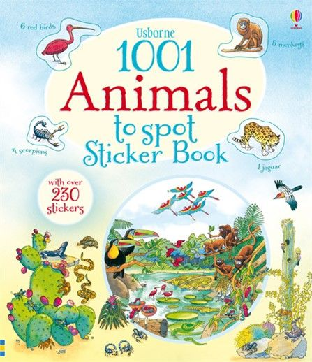 1001 animals to spot sticker book - http://www.usborne.com/catalogue/book/1~NH~NA~8865/1001-animals-to-spot-sticker-book.aspx  #1001 #animal #spot #sticker #puzzle #matching #children #book #activity #wildlife