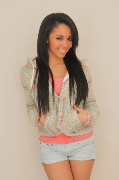 Vanessa Morgan- My babysitters a vampire, I can stare into her eyes forever, she's pretty