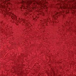 Velour röd präglat mönster
