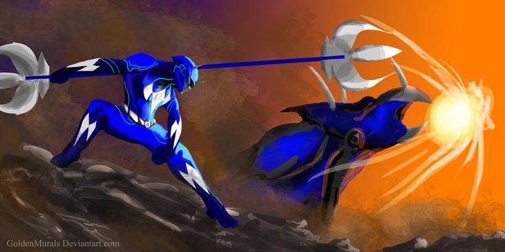 Blue Power Ranger Fan Art by goldenmurals.deviantart.com on @deviantART