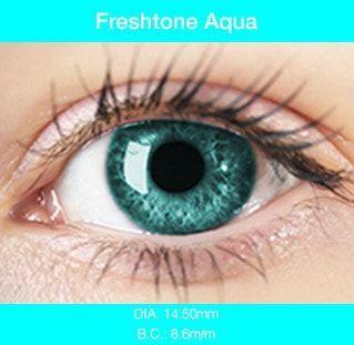 Aqua Color Contacts - Buy Best Quality Non Prescription Colored Contact Lenses - 1