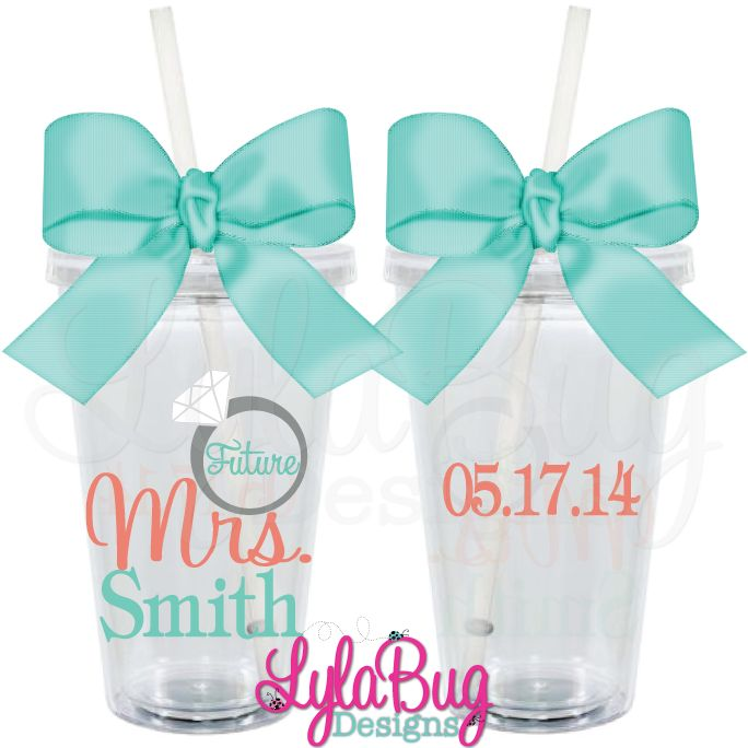 Future Mrs. Tumbler Design2: LylaBug Designs Engagement Gift, Engagement Party, Bridal Shower Gift, Future Bride