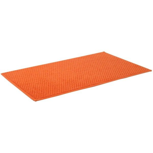 Linea Cotton bobble reversible bathmat in orange (42 AUD) ❤ liked on Polyvore featuring home, bed & bath, bath, bath rugs, rugs, floors, furniture, decor, home & furniture and linea
