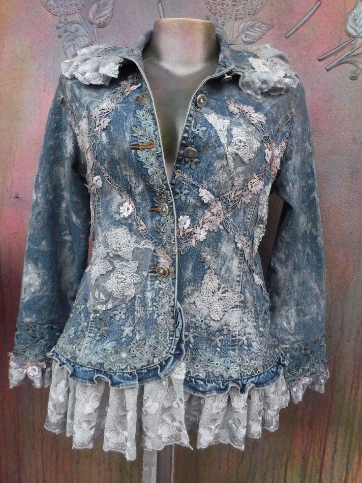 20%OFF denim jacket, wildskin, shabby jacket, embroidered, gypsy coat, gypsy, bohemian, short jacket, woodland, steampunk, gothic, mori girl by wildskin on Etsy https://www.etsy.com/listing/514676359/20off-denim-jacket-wildskin-shabby