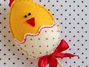 Шьем забавного пасхального цыпленка из фетра   Ярмарка Мастеров - ручная работа, handmade