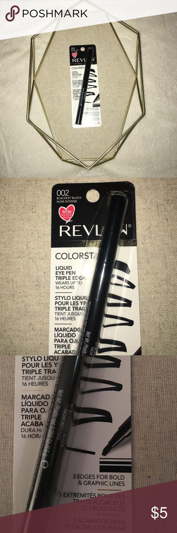 Revlon Eyeliner Brand new. Blackest black. Eye pen. Price firm unless bundled. No trades. Revlon Makeup Eyeliner