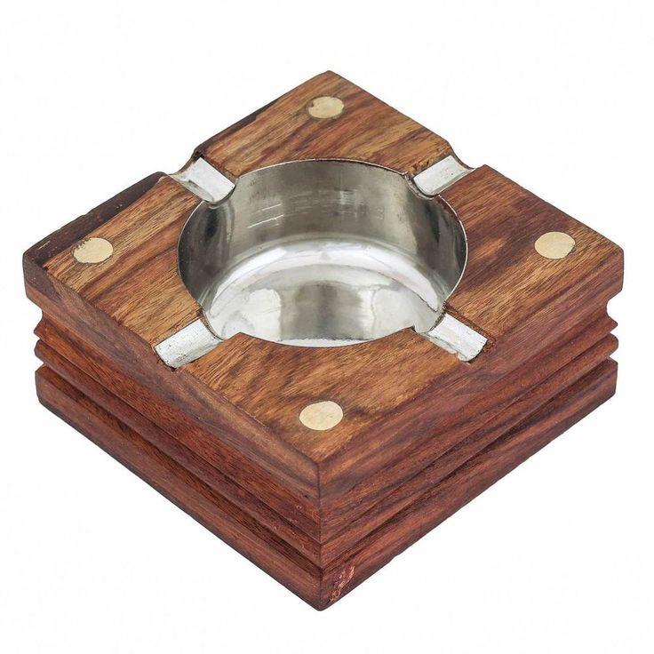 Wooden Cigarette Ashtray 4 inch