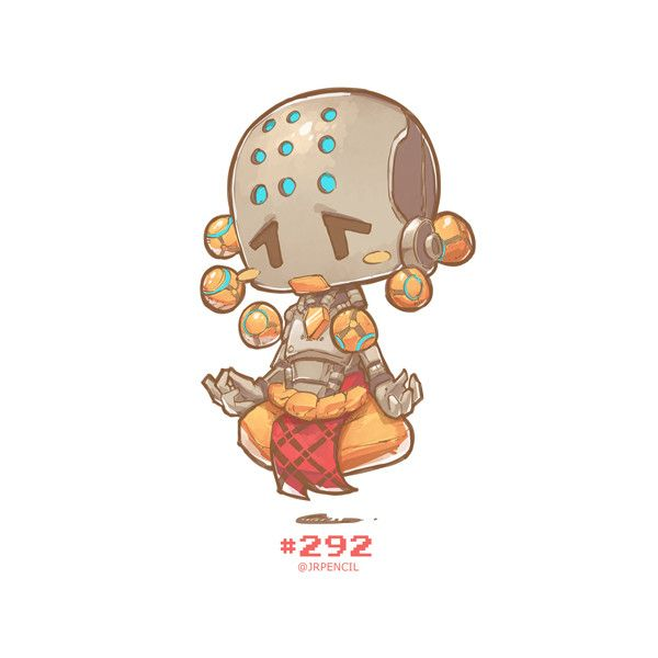 #292 - Zenyatta, Jr Pencil on ArtStation at https://www.artstation.com/artwork/zKJGZ
