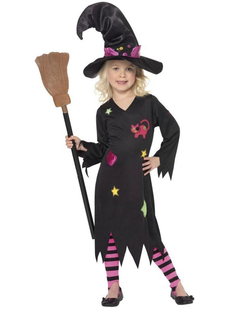 Vestido de bruja con medias para niña | Comprar