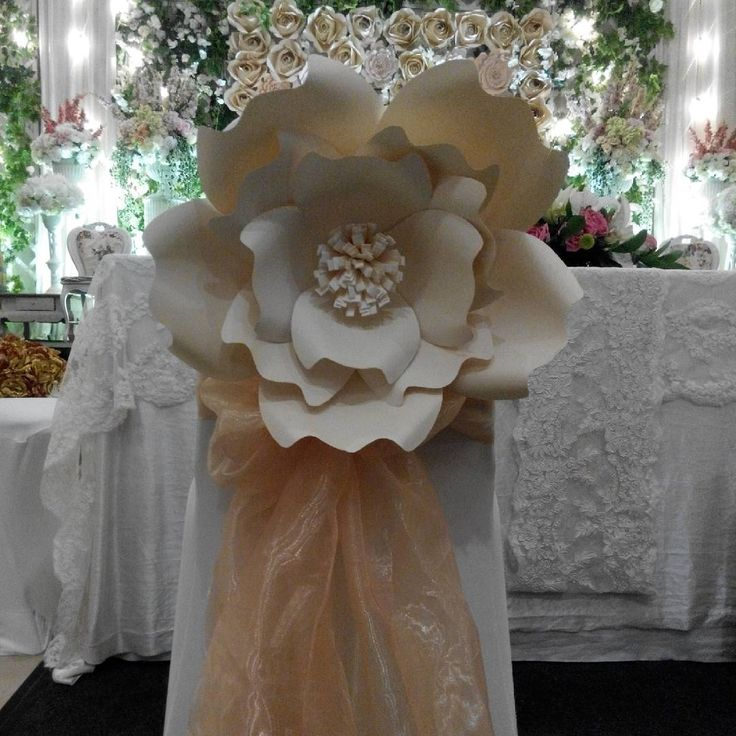 Paper Flower for Wedding Backdrop. For further information please contact us! CP; BBM : 528E2B75 WA/SMS :…