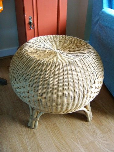 vintage wicker stool/side table.