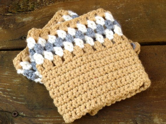 Tan Boot Cuffs Boot Toppers Crochet Tan Camel by SeacliffeCottage