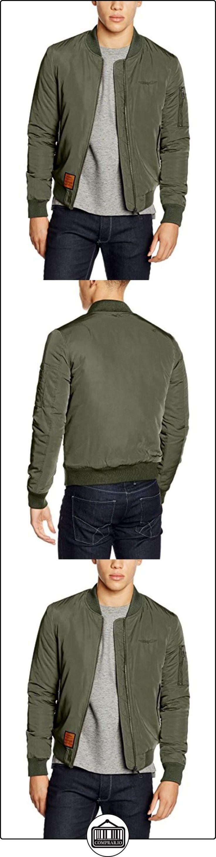 Bombers Original M, Chaqueta para Hombre, verde (kaki 3), Medium  ✿ Abrigos y chaquetas ✿
