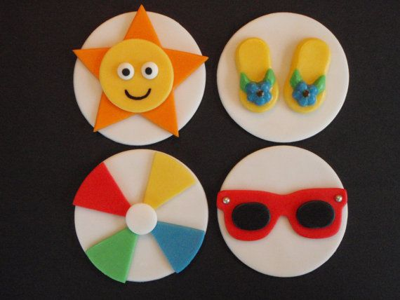 Adorable fondant cupcake toppers.