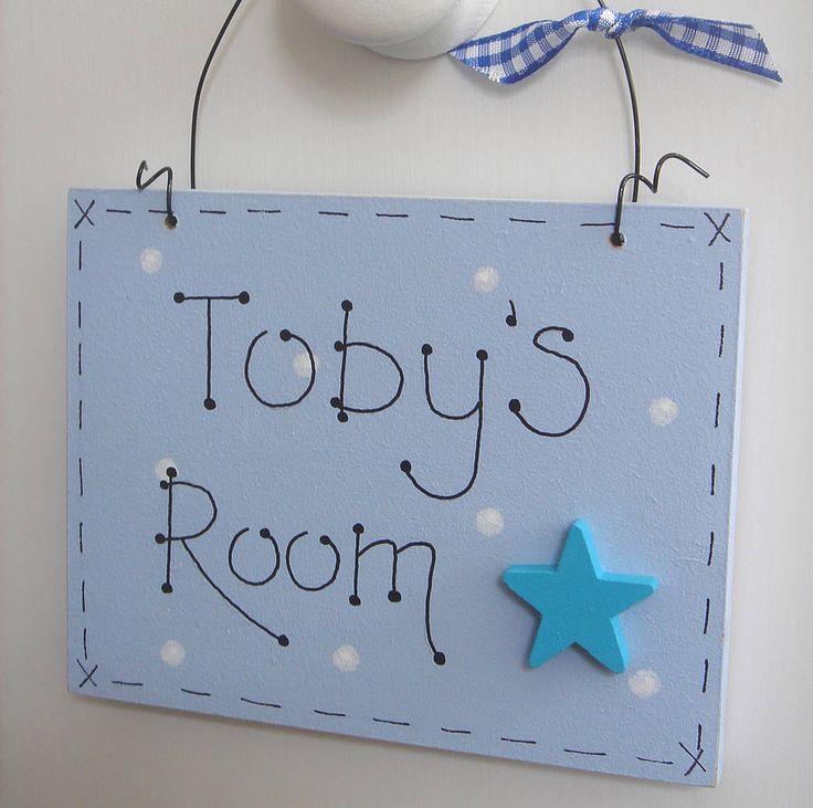 personalised door plaque by little bird designs | notonthehighstreet.com