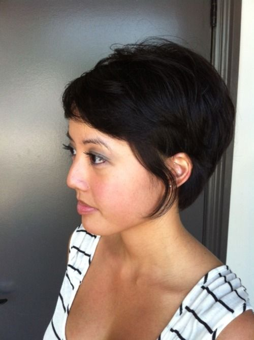 Long Pixie. Cut and style by Neil George Salon stylist Alessandra Saman.