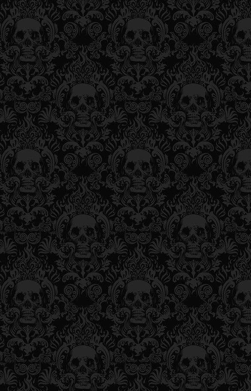 Skull Damask Wallpaper