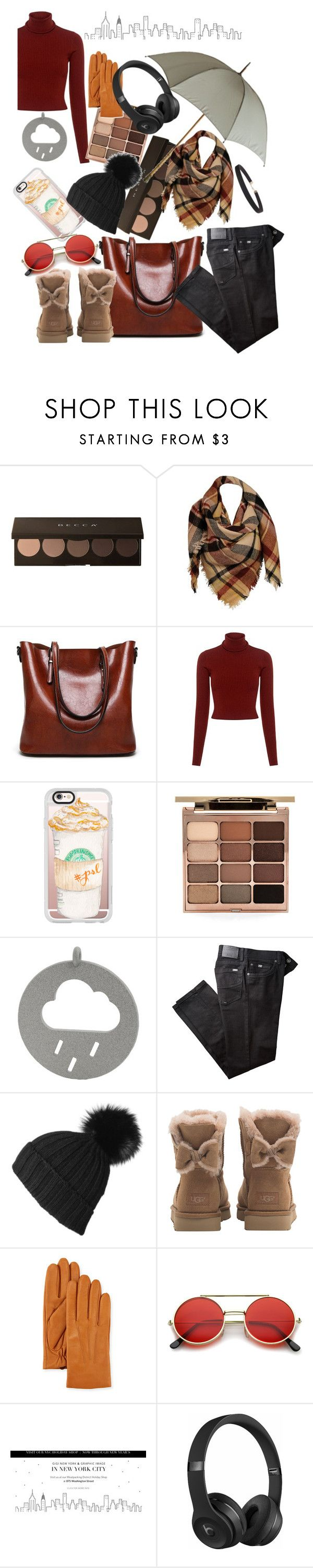 """Untitled #109"" by grace-m-polyvor ❤ liked on Polyvore featuring Sylvia Alexander, A.L.C., Casetify, Stila, BRAX, Black, UGG, Neiman Marcus, GiGi New York and Beats by Dr. Dre"