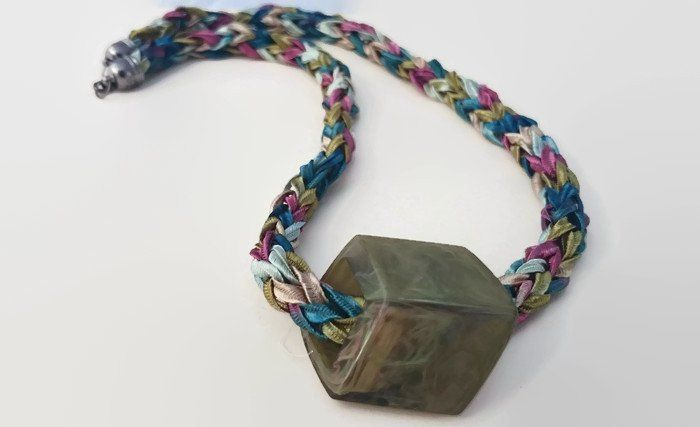 Pendants – Multi colour necklace, colourful fabric jewellery, – a unique product by saradcook on DaWanda