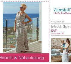 """E-BOOK – Wasserfallkragen Shirt/Kleid """"KATI"""", GR. 158 – DAMENGR. 46"""
