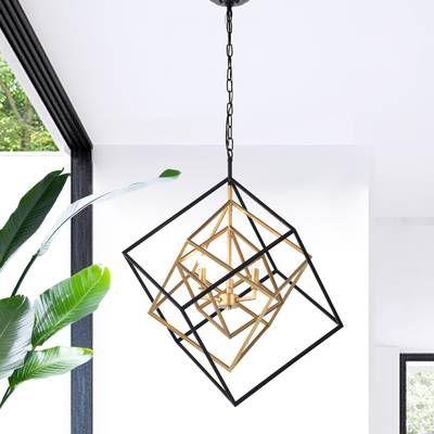 Nielsen 3 Light Candle Style Geometric Chandelier Geometric