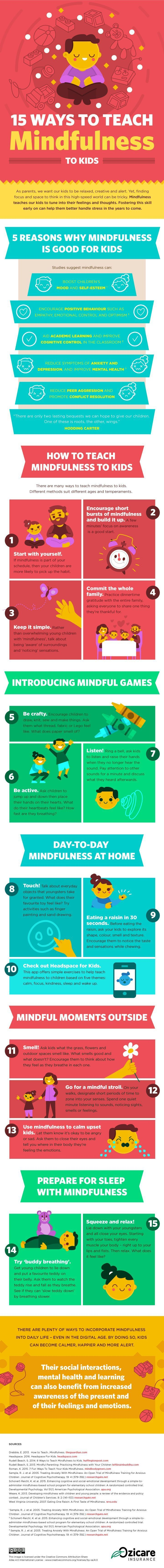 15 Ways to Teach Mindfulness to Kids [Infographic]