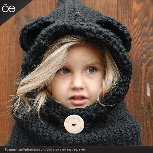 Gorros tejidos para niñas.