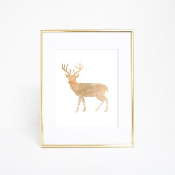 Deer Print, Deer Printables, Rustic Deer Art, Digital Deer Print, Instant Download, Deer Wall Art, Printable Nursery Art, Wilderness Print