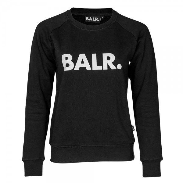 Women Brand Crew Neck Black - BALR.