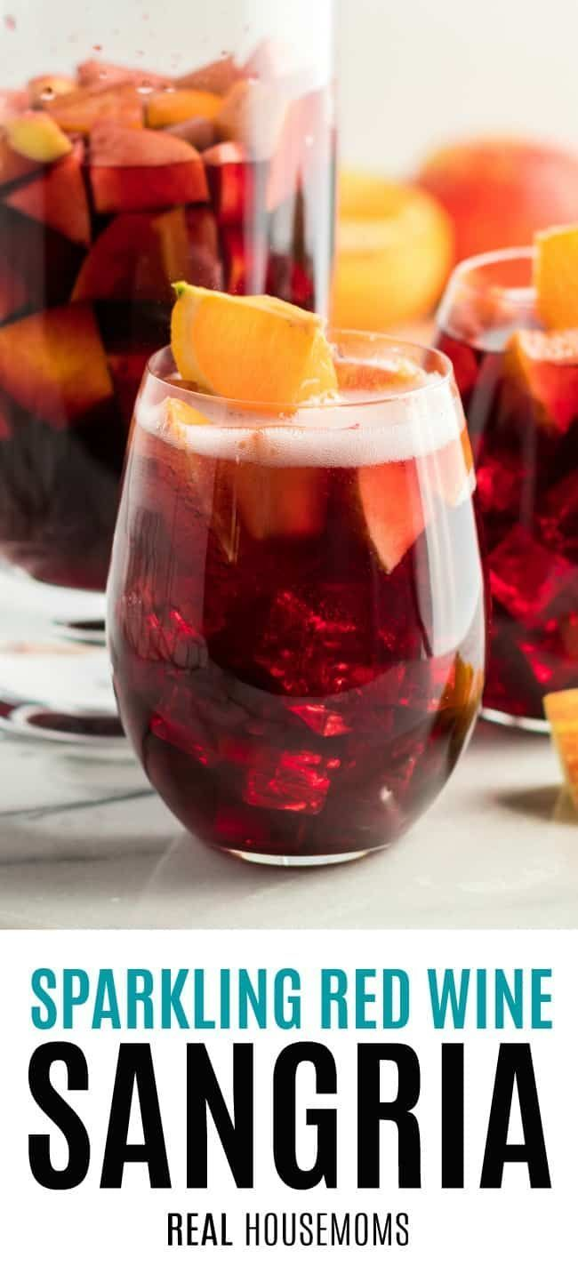 Sparkling Red Wine Sangria In 2020 Sparkling Red Wine Red Wine Sangria Sangria Recipes