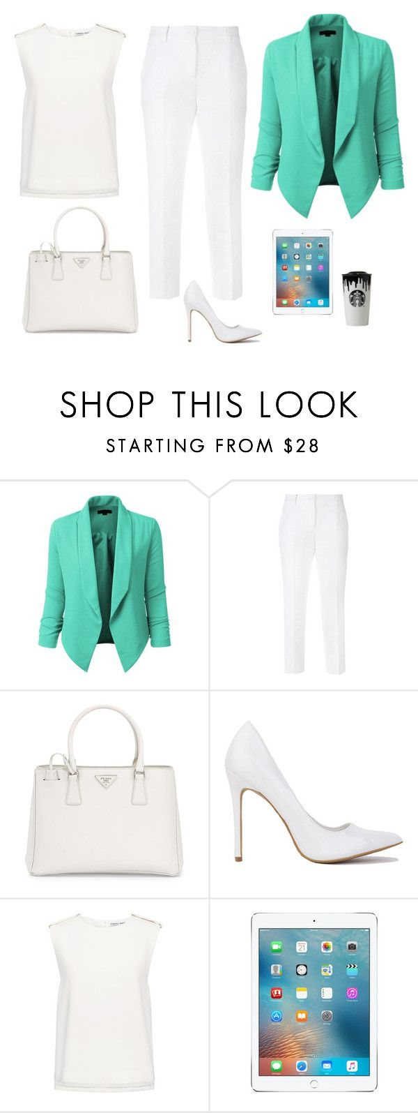 """""""Business women inspiration"""" by monika1555 on Polyvore featuring LE3NO, Dolce&Gabbana, Prada and Finders Keepers"""