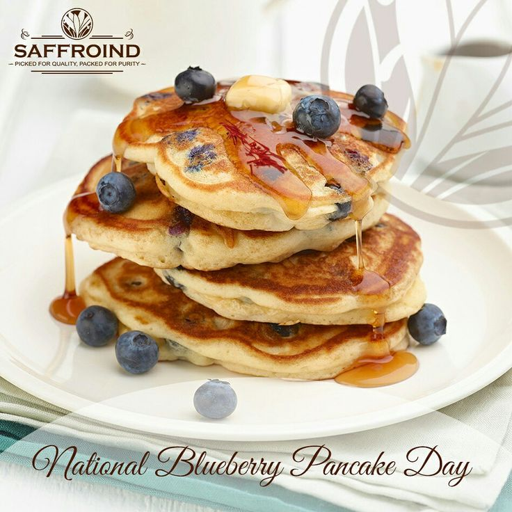 Make your Blueberry Pancake Day yummier with a tinge of Saffron on the top. Happy Blueberry Pancake Day you all foodies! #blueberrypancakeday #blueberry #pancake #pancakes #desserttime #dessert #sweetdish #sweets #yummy #sweettooth
