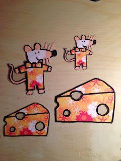 Sorteerspel muis en kaas: sorteren op grootte en motiefje