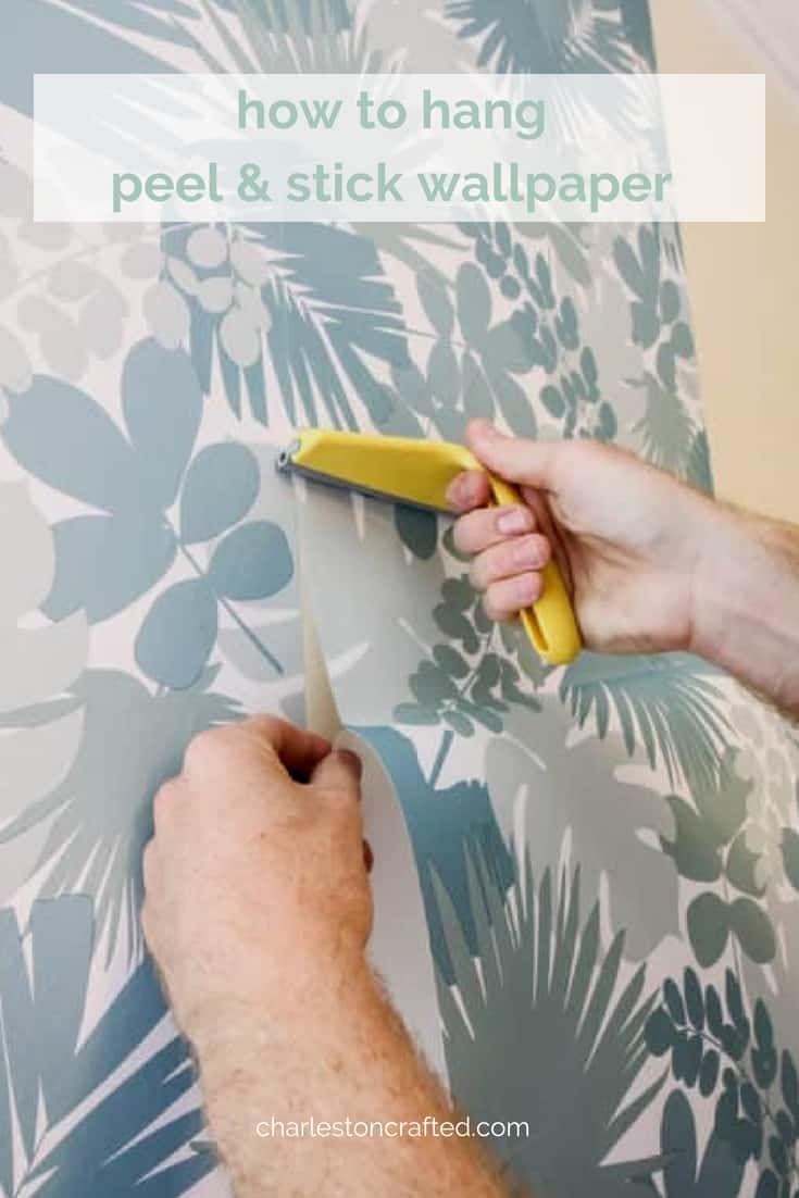 How To Hang Peel Stick Wallpaper Peel And Stick Wallpaper Stick On Wallpaper Diy Wallpaper