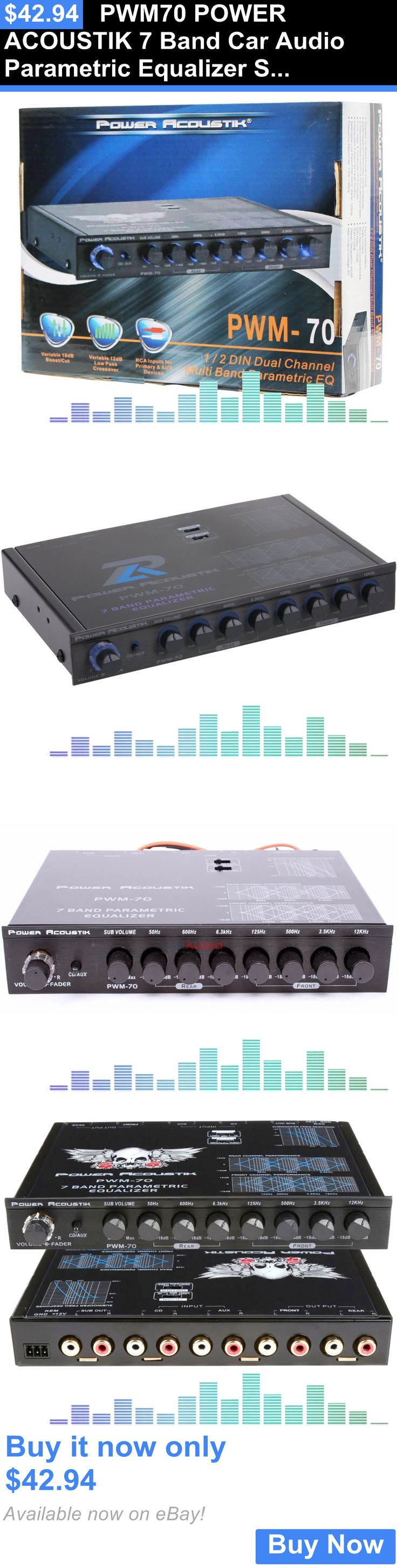 Signal Processors: Pwm70 Power Acoustik 7 Band Car Audio Parametric Equalizer Sub Level Crossover BUY IT NOW ONLY: $42.94