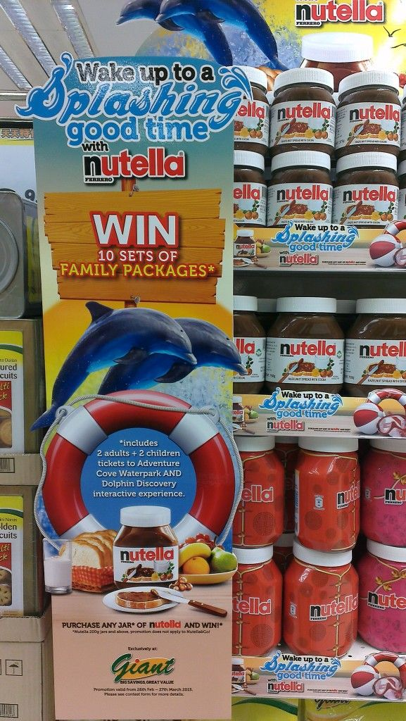 Nutella Splashing Good Time Gondola Display