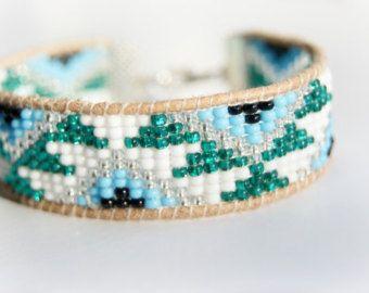 Amitié de cuir perles Bracelet aztèque Design