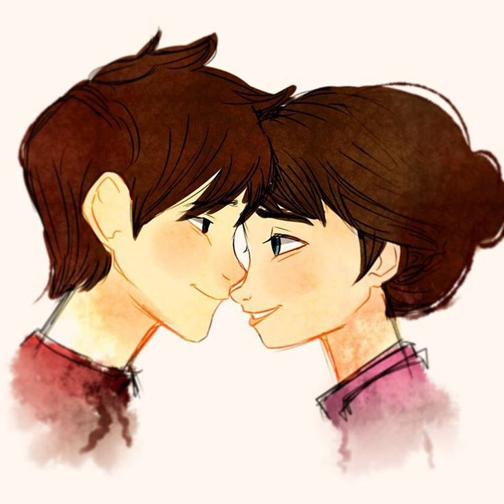 Brunette Jack and Elsa (Human Jackson Overland and Elsa with no powers which she would have her mothers hair color)