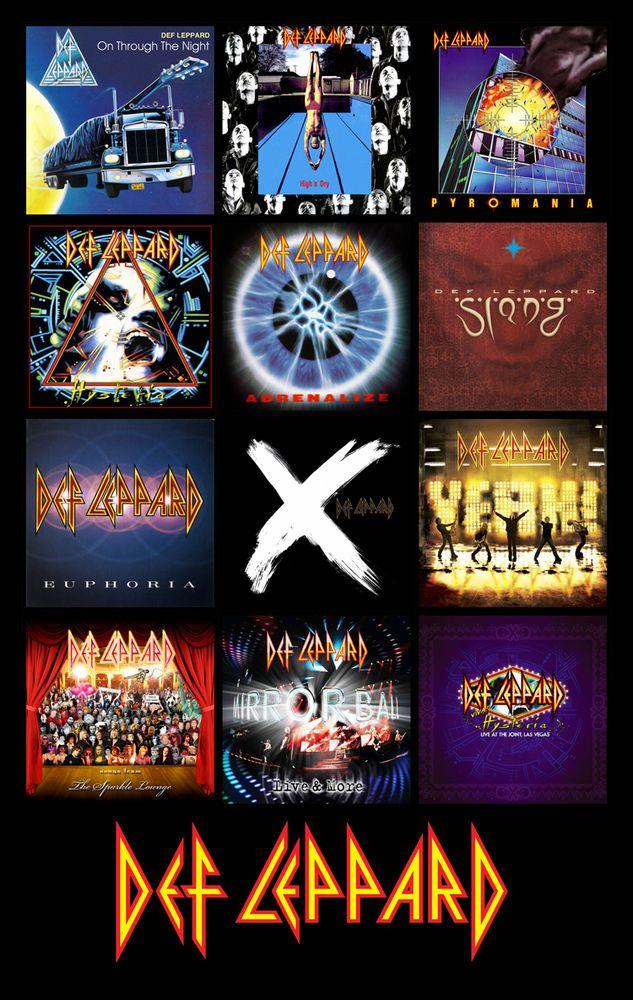 """DEF LEPPARD Albums magnet (3.625"""" X 4.75"""") #HardRock"""