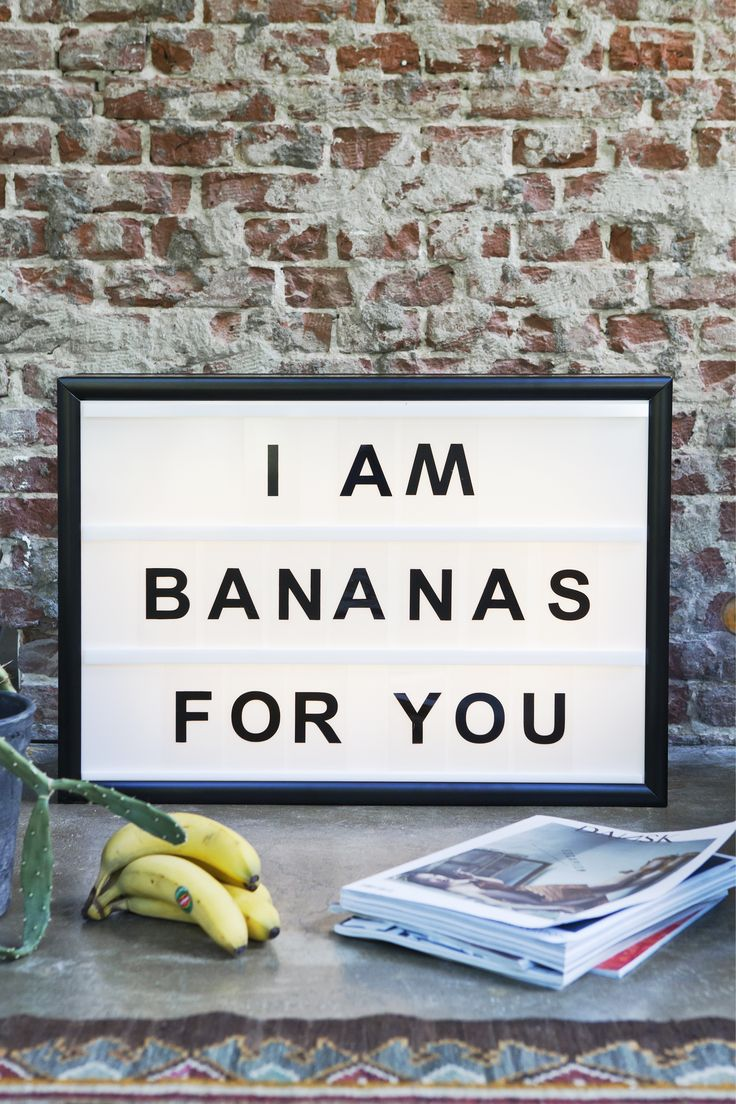 Who are you bananas for? Shop light box on: www.bxxlght.com. Light box. cool text