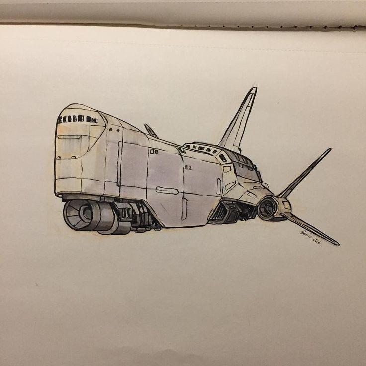 72 vind-ik-leuks, 1 reacties - Alberto Boscolo Gnolo (@albgnolo) op Instagram: 'Merchant spaceship #spaceship #merchantship #drawing #ink #sketch #sketching #moleskine #sketchbook'