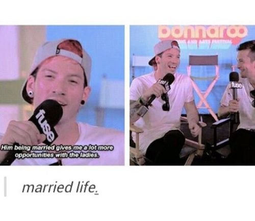 funny, twenty one pilots, and interview image