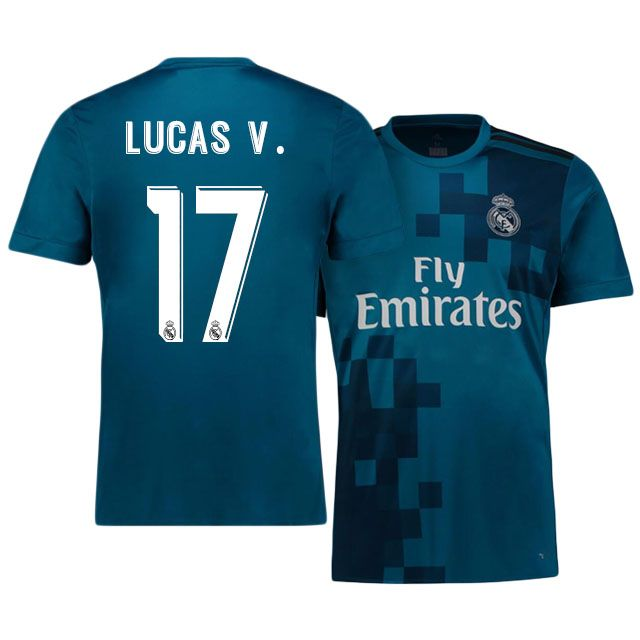 Real Madrid Jersey 17-18 lucas vázquez Third Shirt