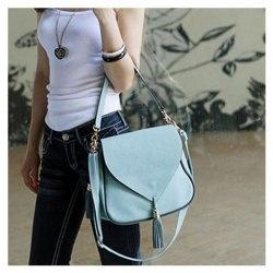 $8.65 New Arrival Fringe Embellished and Covered Design One-Shoulder Bag For Female